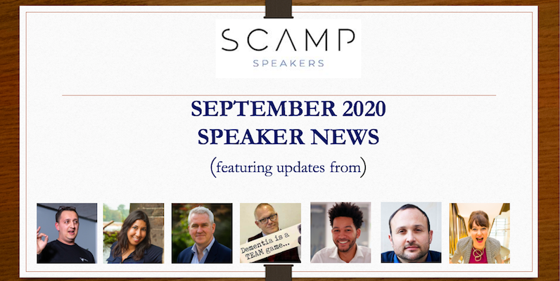 September 2020 Speaker News