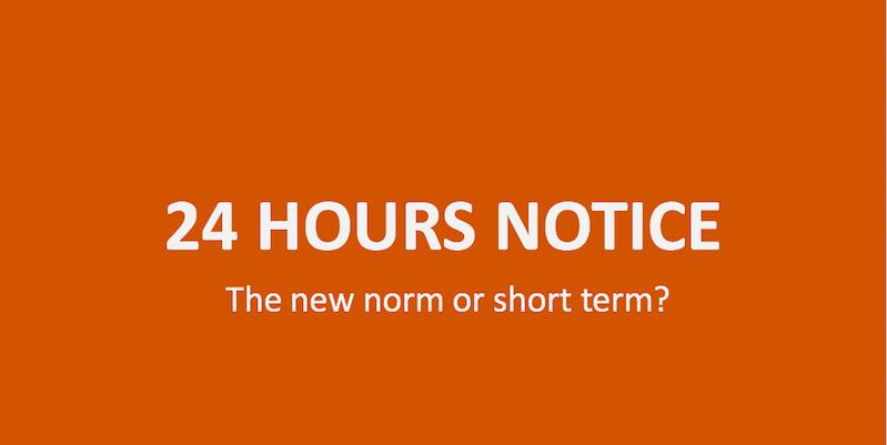 Short Notice Bookings